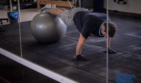 Plank con fitball